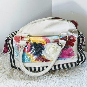 Betsey Johnson Floral / Striped Purse